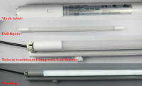 LED T8 tube light 9W-22W with UI SAA CE C-tick approval