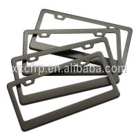 High Quality USA Canada Carbon Fiber Licence Plate Frame Carbon Number Plate