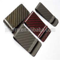 High Polish Glossy Surface Colorful Carbon Fiber Money Clip
