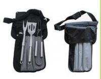 3pc Bbq Set with tote incl spatula, tongs, fork