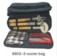 Football Grill Set with Grill Glove in Cooler bag