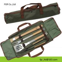 4Pc Bbq Grill Accessories with poly tote