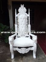 Hand Carved Mahogany Wood Lion Throne Chairs, Office Furniture