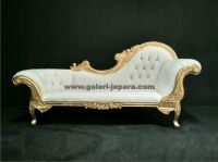 Carved High End Chaise Lounge Sofa