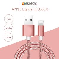 Lightning Cable, Rainbow Charger Cables to USB Syncing and Charging Cable Data Nylon Braided Cord Charger for iPhone 7/7 Plus/6/6 Plus/6s/6s Plus/5/5s/5c/SE and more