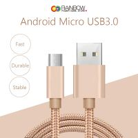 Micro Cable, Rainbow Charger Cables to USB Syncing and Charging Cable Data Nylon Braided Cord Charger for android, samsung, nexus, lg, htc, nokia, sony, and more