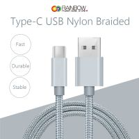 USB Type-C Cable, Rainbow USB Type-C Cable Fast Charger Nylon Braided Cord for Samsung Galaxy S8 S8 Plus, LG G6 G5 V20, Google Nexus 5X/6P, Nintendo Switch, MacBook and More