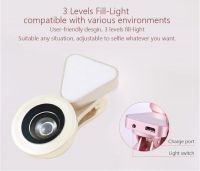 Rainbow 2 in 1 Cell Phone Lens with Beauty LED Flash Light, 15X Macro Lens & 0.4X - 0.6X Wide Angle Lens, 3 Adjustable Brightness Fill Light, for iPhone 7, 6s, 6, 5s & Most Smartphones