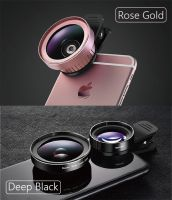Rainbow Phone Camera Lens, 0.8X Wide Angle Lens + 15X Macro Lens, 2 IN 1 Clip-On Professional HD Cell Phone Lens for iPhone 7 / 7 PLUS / 6, Samsung and More