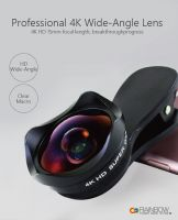 Rainbow Ultra Lens Kit - 4K HD Macro Lens + Wide Angle Lens Kit, Clip-On Cell Phone Camera Lens for iPhone X/87/6/5/4, Android/Samsung Mobile and More