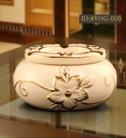 European style luxurious ceramic ashtray Creative gift
