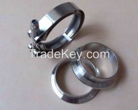 V-Band Flange & Clamp Kit for Turbo Exhaust Downpipes MILD STEEL