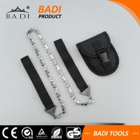 Amazon hot sale survival hand pocket chain saw with pouch