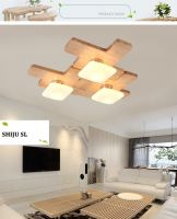 SL LED DIY pendant lamp north european jigsaw puzzle wood pendant lights bedroom jigsaw wood pendant light fixture YJ6008
