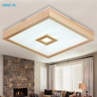 SL wood unique design America ceiling lights fashion modern and simple wood ceiling lights study room ceiling lights Y0571