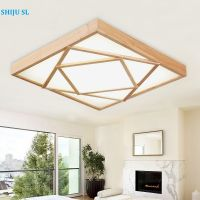 SL wood led ceiling lights modern simple living room light bed room environment protect lamp study room lamp Y0593