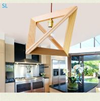 SL wooden art pendant lamp dining room lamp simple and special pendant lighting fixture