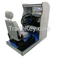 Truck driving simulator, dump truck simulator, car driving simulator