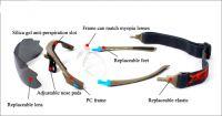 Polarized 5 Lens Wholesale Flip up UV400 Sports Sunglasses