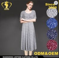 2017 Elegant rayon dress for old ladies