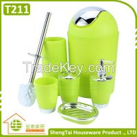 Manufactory Wholesale Cheapest High Quality Plastic Bathroom Set
