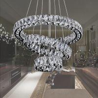 European three-ring advanced crystal chandelier