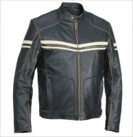 Leather jacket coats vests