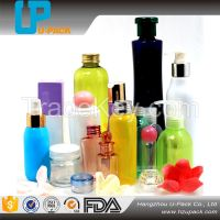 Plastic PET bottle for cosmetic packaging lotion bottle and sprayer