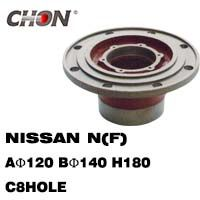 Nissan Truck wheel hub in front axle