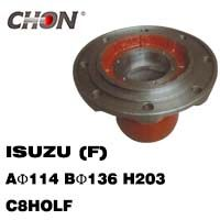 ISUZU wheel hub in FRONT axle
