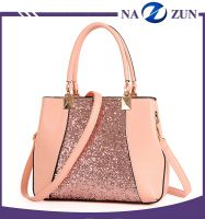 Fashion Elegant Sequins PU Lady Handbag Cube Bag