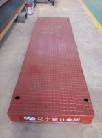 Metrodeck, checkered H beam steel deck plate.