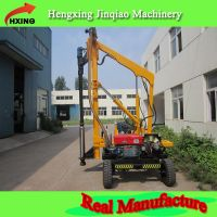 Fluid drive steel beam post piling drilling pile driver