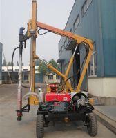 Drilling rock drill rig Diesel engine guardrail pile driver machine