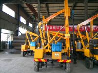 Rock drilling machine pile driver for hard construction site