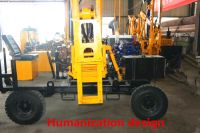 High cost-performance functional pile driver for guardrail installation
