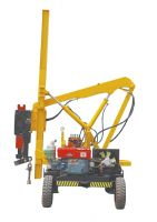 Extracting machine pile driver for ramming and pulling