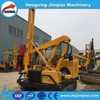 Highway Safety Guardrail Pile Driver With YC260 Hydraulic Hammer