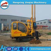 PV plant system foundation pile driver