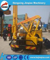 Drilling piling machine for PV plant C posts install