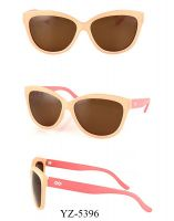 Female Fashion Sunglasses with Polycarbonate Frame and Arms (YZ-5396)