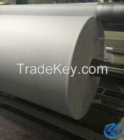 Staple fiber polyester mat