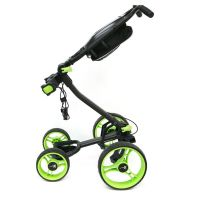 Axglo Flip N' Go 4 Wheel Golf Push Cart Black Red