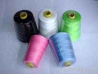polyester thread, polyester spun yarn