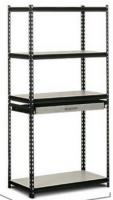 4 tier boltless storage shelving warehouse rack