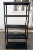 4 tier plastic shelving warehouse rack