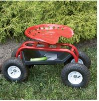 Steerable Rolling Workseat, End torturous kneeling, squatting, and stooping