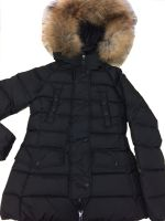 lady down coat with fur trim