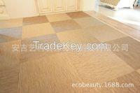 PVC woven floor tile