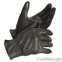 Leather Police Gloves with Sand in fingers